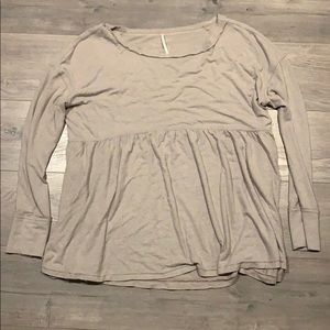 Free People Oversized Soft Long Sleeve Top